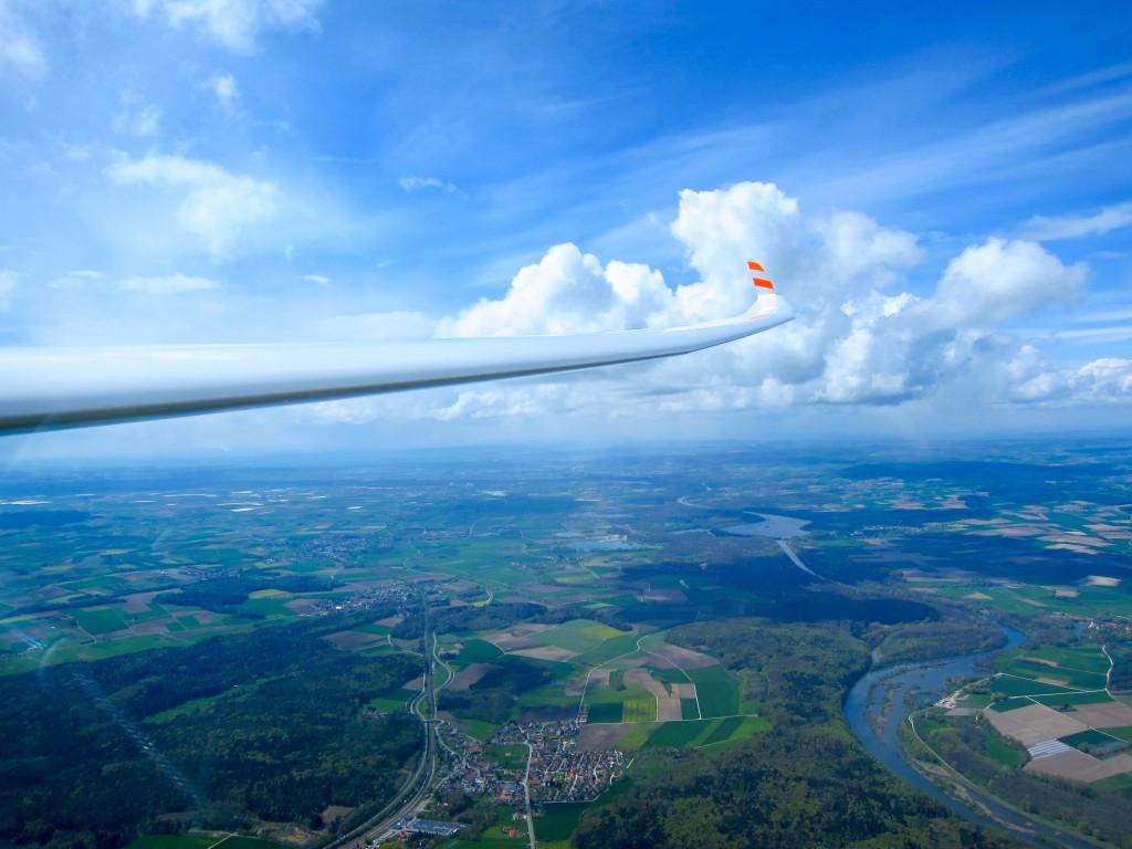 Segelflug Augsburg_Wunderbares Wetter an der Donau