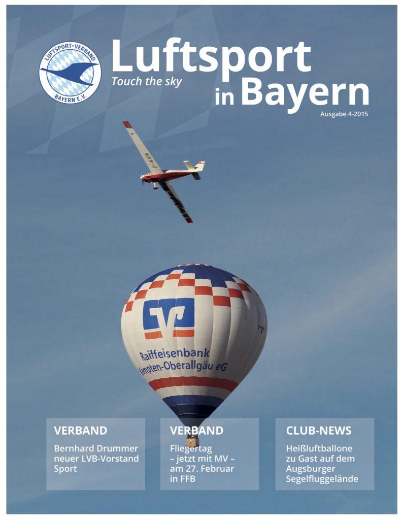 Titelbild Luftsport in Bayern 2015 Motorsegler Augsburger Verein für Segelflug_Titelbild